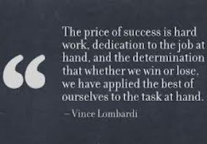success and hard work