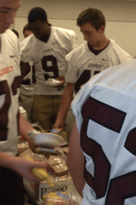 Feeding Football Players