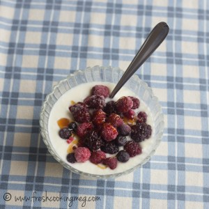 Yogurt with berries and a bit of honey