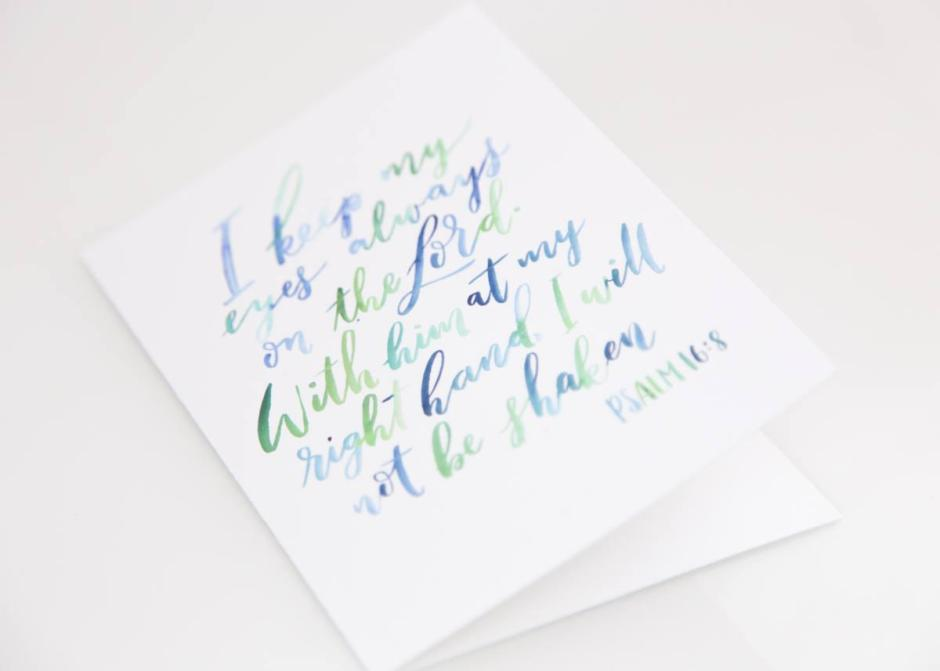 Encouraging Bible Verse Card