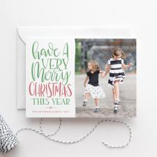 Hand Lettered Custom Christmas Cards