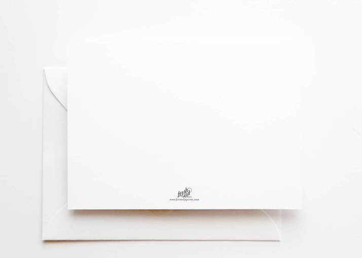 Minimalist Typography Christmas Card