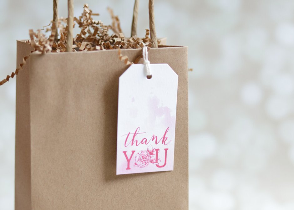 Pink Hand Lettered Packaging Tags
