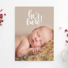 birth announcements fresh cut prints