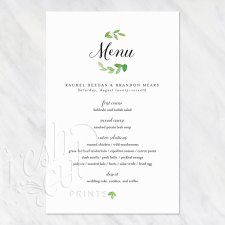 Printed Menu Cards