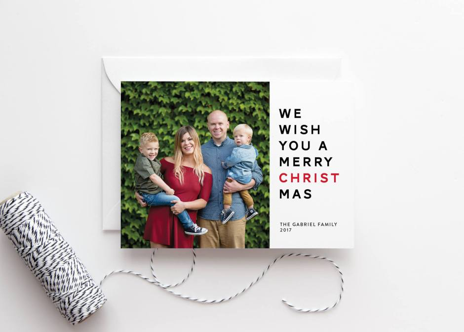 Religious Holiday Card with Photo