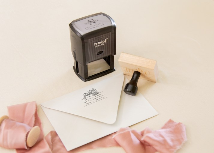 custom house address stamp