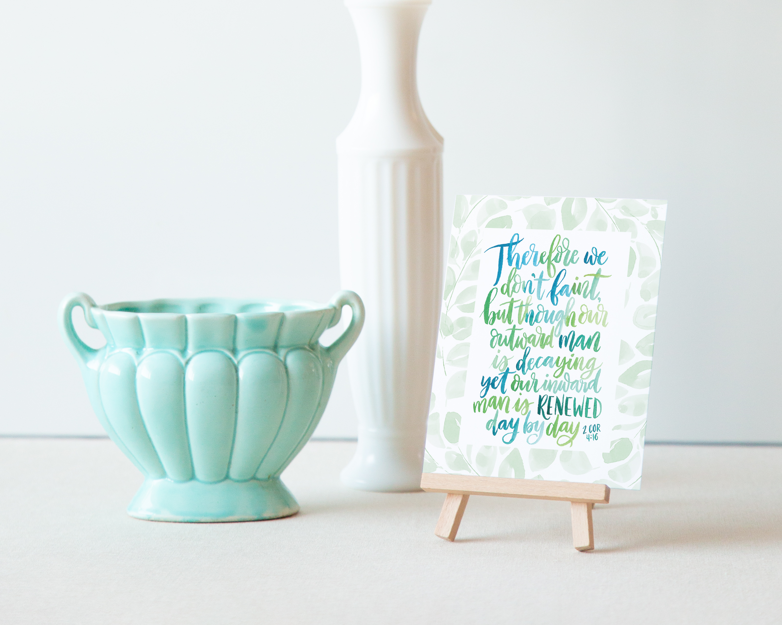 Bible verse art print set