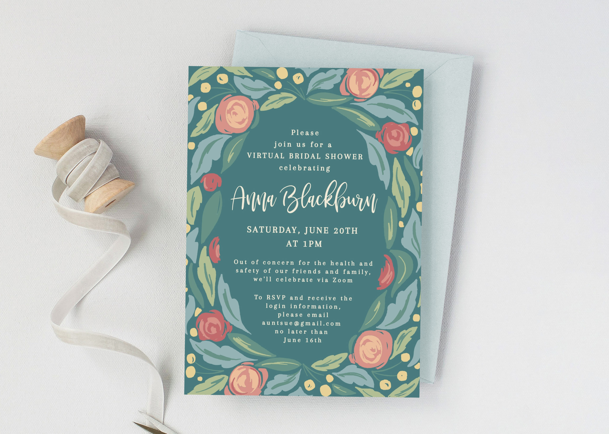 Virtual Bridal Shower Invitation