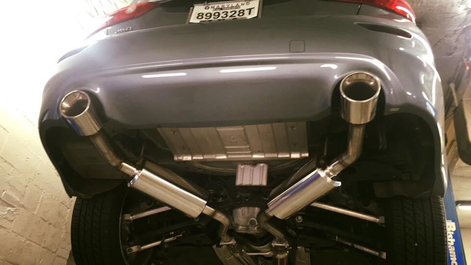 fresh stillen exhaust on infiniti q50