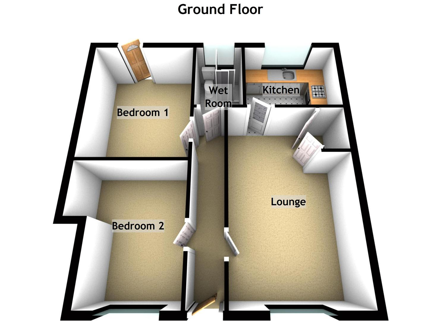 3D house plans without formal dining and living rooms