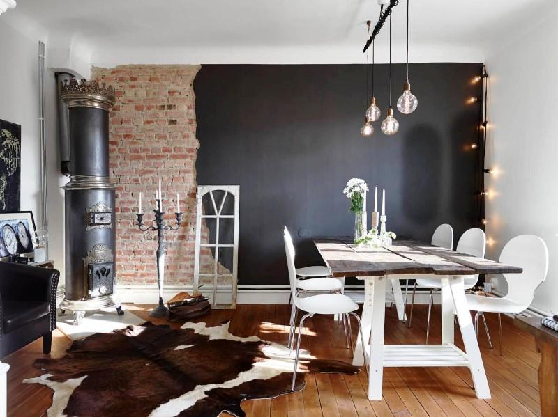 Dining ARea Custom Decor With Modern Brick Boundary Wall Designs
