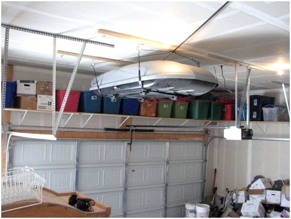 Hanging Shelves From Ceiling In Garage
