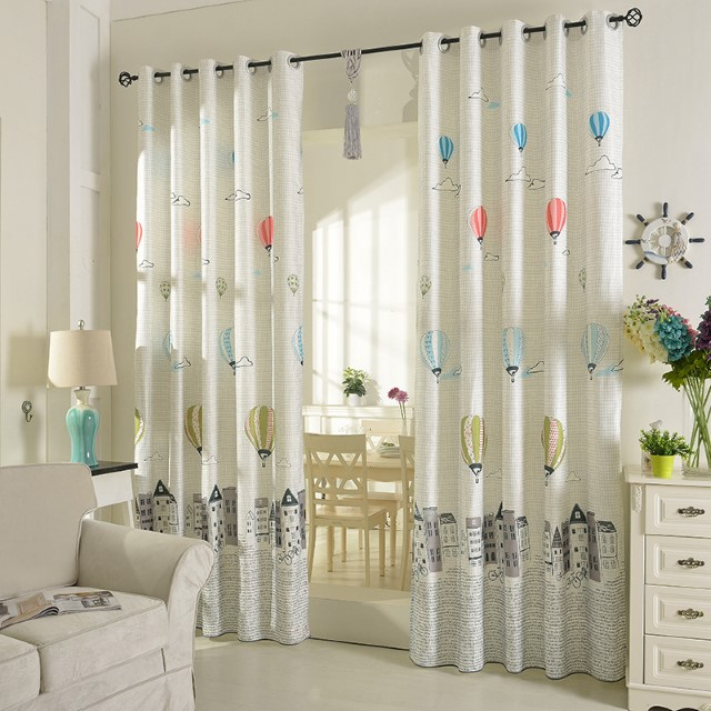 korean look style Balloon Curtains for Living Room