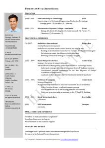 Fresher Jobs Uganda - CV template