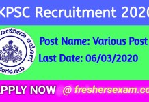 kpsc recruitment, kpsc Group A & B , kpsc Assistant/ FDA (RPC & HK)