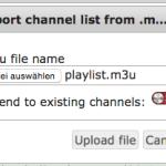 Playlist upload to tvstreamrecord
