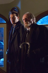 (L-R) Corey Stoll as Ephraim Goodweather, David Bradley as Abraham Setrakian -- CR: Michael Gibson/FX