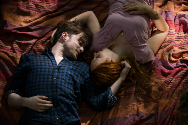 Danielle Radcliffe and Juno Temple play lovers in HORNS. Photo courtesy of RADiUS-TWC.