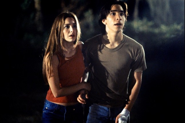 Gina Philips and Justin Long play brother and sister in 2001's JEEPERS CREEPERS. Photo courtesy of United Artists.