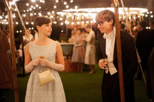 Felicity Jones (Like Crazy) and Eddie Redmayne (Les Misérables) play Jane and Stephen Hawking in The Theory of Everything. Photo courtesy of Focus Features.