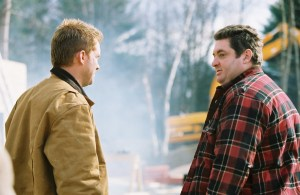 Anthony Michael Hall and Chris Penn are Tom and Tony in AFTERMATH. Photo courtesy of Freestyle Releasing.