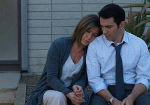 "Jennifer Aniston and Chris Messina star in ""CAKE."" Photo courtesy of Cinelou Releasing."