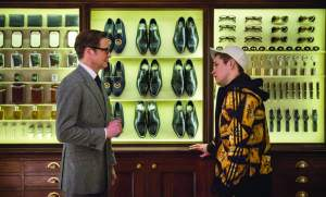 Colin Firth and Taron Egerton star in KINGSMAN: THE SECRET SERVICE. Photo courtesy of 20th Century Fox.