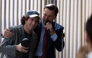 """Jake Hoffman as """"Steve Madden"""" and Leonardo DiCaprio as Jordan Belfort in THE WOLF OF WALL STREET. Photo courtesy of Warner Bros."""