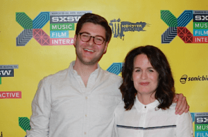 Writer-director Andrew Droz Palermo and Elizabeth Reaser.
