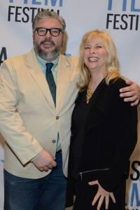 The Wrap film critic Alonso Duralde and Candy Clark at the 45th Annual USA Film Festival on Friday, April 24, 2015. Photo courtesy of Lisa Stewart Photography.