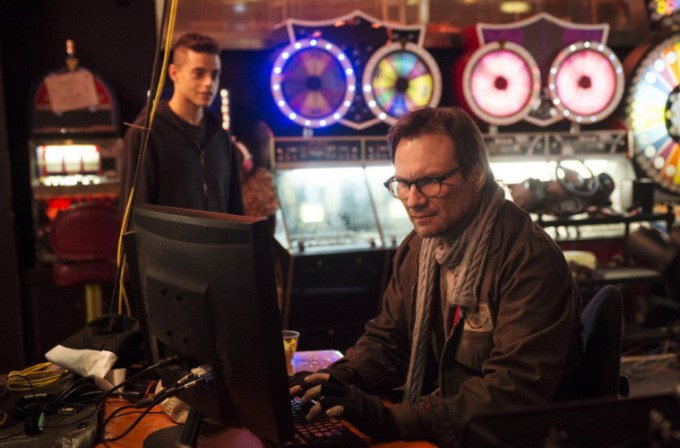 MR. ROBOT hacks into USA Network's summer TV lineup. Pictured: Rami Malek and Christian Slater. Photo courtesy of USA Network.