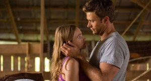 Britt Robertson and Scott Eastwood generate sparks as Sophia and Luke in THE LONGEST RIDE. Photo courtesy of 20th Century Fox.