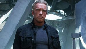 Arnold is back in TERMINATOR GENISYS. Photo courtesy of Paramount Pictures.