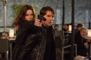 Tom Cruise and Rebecca Ferguson in Mission: Impossible - Rogue Nation. Photo courtesy of Paramount Pictures.