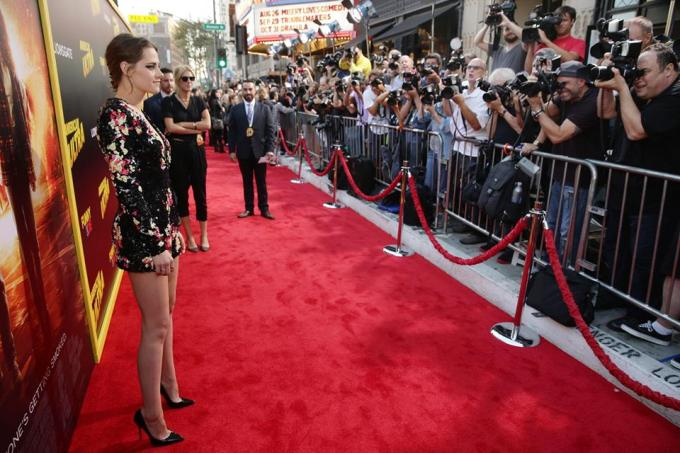 """A style icon for the ages… Kristen Stewart is stunning at the AMERICAN ULTRA World Premiere."""