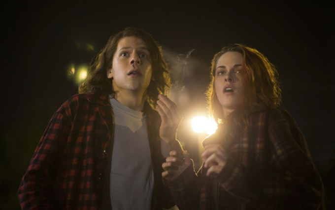 Jesse Eisenberg and Kristen Stewart in AMERICAN ULTRA courtesy of Lionsgate