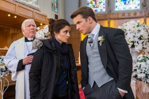 Rachel (Shiri Appleby) and Adam (Freddie Stroma) prepare for the finale of Everlasting. Photo courtesy of Lifetime.