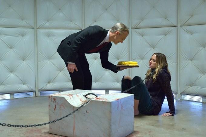 Richard Sammel as Thomas Eichhorst, Ruta Gedmintas as Dutch Velders. Photo courtesy of Michael Gibson/FX.