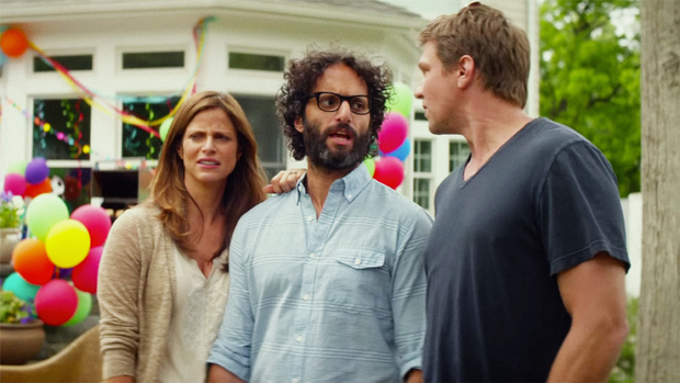Andrea Savage , Jason Mantzoukas and Marc Blucas in SLEEPING WITH OTHER PEOPLE. Photo courtesy of IFC Films