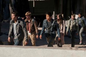 "The cast of THE SCORCH TRIALS head out into ""the scorch,"" and undergo some trials. Photo courtesy of 20 Century Fox."