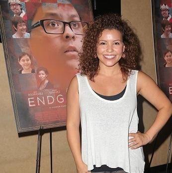 Justina Machado the premiere of Avila Entertainment's ENDGAME at AMC Burbank Town. Photo courtesy of Imeh Akpanudosen/ Getty Images.