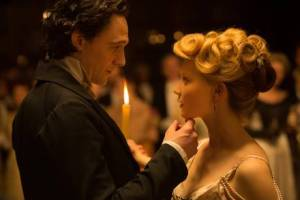 Tom Hiddleston and Mia Wasikowska star in CRIMSON PEAK. Photo courtesy of Universal Pictures.