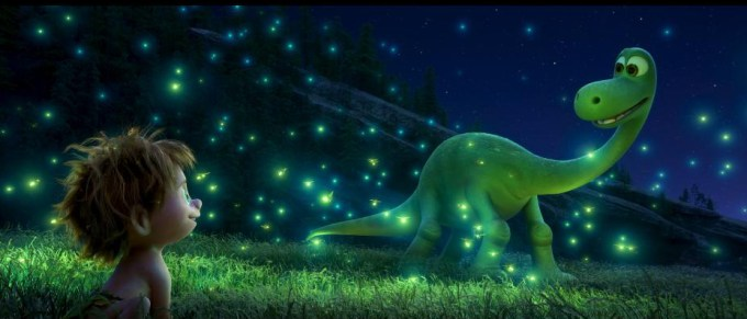 Spot and Arlo in THE GOOD DINOSAUR. Courtesy of Disney-Pixar.