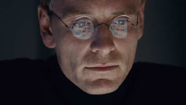Michael Fassbender acting his ass off as Steve Jobs in STEVE JOBS (Photo Courtesy of Universal Pictures)