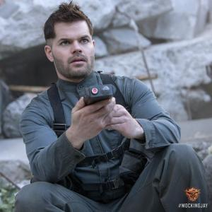 Wes Chatham as Castor in MOCKINGJAY. Photo courtesy of Lionsgate.