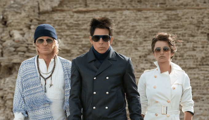 Left to right: Owen Wilson plays Hansel, Ben Stiller plays Derek Zoolander and Penelope Cruz plays Valentina Valencia in Zoolander 2 from Paramount Pictures.