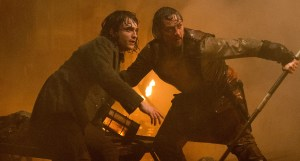 Daniel Radcliffe as Igor, James McAvoy as Victor Frankenstein. Photo courtesy of 20th Century Fox.
