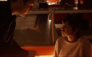 Frederick Lau and Laia Costa share a sweet moment before engaging in a robbery. Photo courtesy of Adopt Films.
