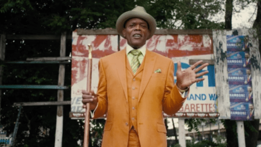 Dolemedus (Samuel L. Jackson) in Chi-Raq (photo courtesy of Roadside Attractions)